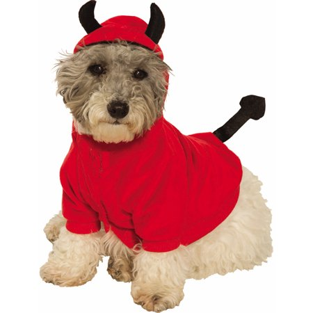 Devil Hoodie Pet Cute Red Demon Cat Dog Halloween Costume