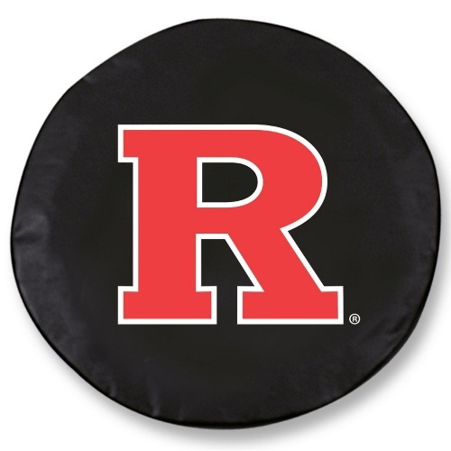 NCAA Tire Cover by Holland Bar Stool - Rutgers, Black - 31.25'' x 12''