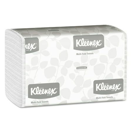 Tri Fold Velour Towel (Kleenex Multi-Fold Paper Towels, 9 1/5 x 9 2/5, White, 150/Pack, 16 Packs/Carton )