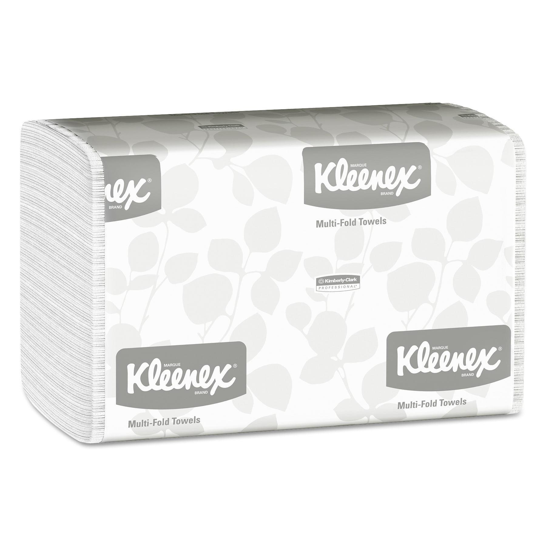 Kleenex Multi-Fold Paper Towels, 9 1/5 x 9 2/5, White, 150/Pack, 16 Packs/Carton