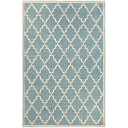 Couristan 78811034039055T 3 ft. 9 in. x 5 ft. 5 in. Monaco Ocean Port Rug, Turquoise & Sand - image 1 of 1