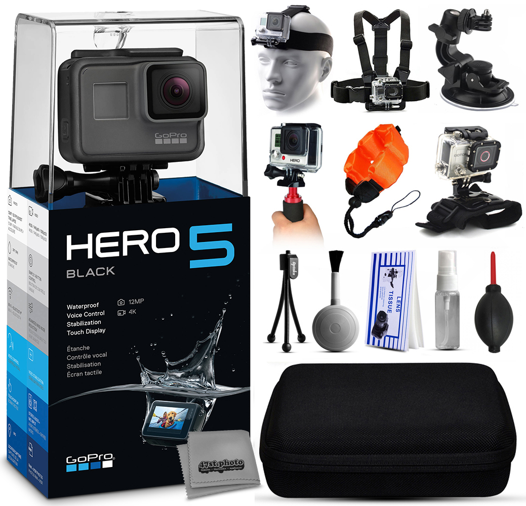 GoPro HERO5 Black CHDHX-501 with Headstrap + Chest Harnes...
