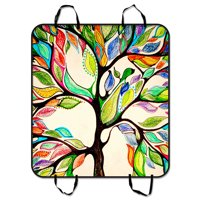 GCKG Tree of Life Pet Car Seat Cover,Tree of Life Gorgeous Like Leather Pet Car Seat Cover Dog Car Seat Mat Hammock Cargo Mat Trunk Mat For Cars Trucks and SUV 54x60 inches
