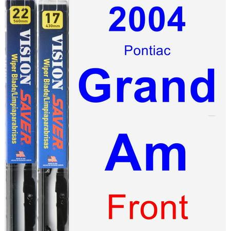 2004 Pontiac Grand Am Wiper Blade Set/Kit (Front) (2 Blades) - Vision Saver (2004 Pontiac Grand Am Bumper)