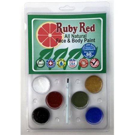 Ruby Red Paints PALNATU Clam Pack - 6 Color - (Ruby Red Natural)