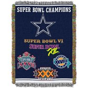 "NFL 48"" x 60"" Commemorative Series Tapestry Throw, Cowboys by The Northwest Company"