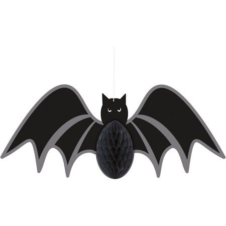 Bat Halloween Hanging Decoration, 14in - Paper Bag Decorations For Halloween
