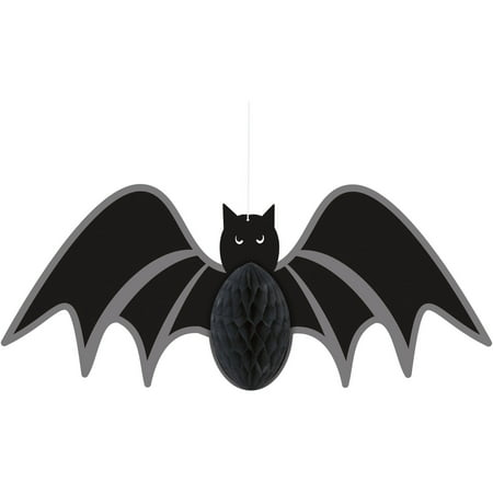 Bat Halloween Hanging Decoration, 14in - Black Cat Blow Up Halloween Decoration