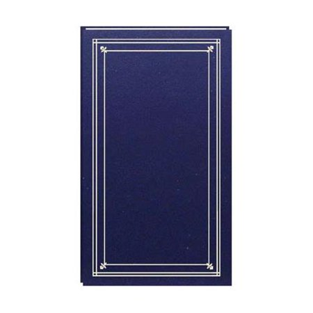 Slim Line Post Bound, Clear Pocket Photo Album with Solid Color Covers, Holds 204 4x6