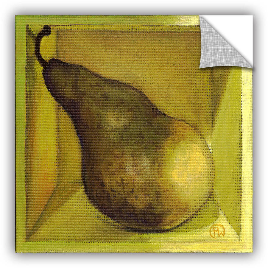 "ArtAppealz Paige Wallis ""Square Pear"" Removable Wall Art"