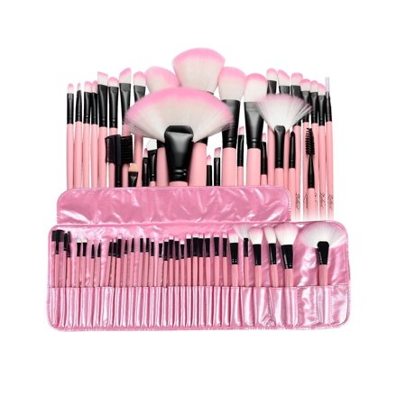 Zodaca 32 pcs Professional Cosmetic Makeup Brushes Kit Gift Set Powder Foundation Eye shadow Eyeliner Lip with Pink Cosmetic Pouch
