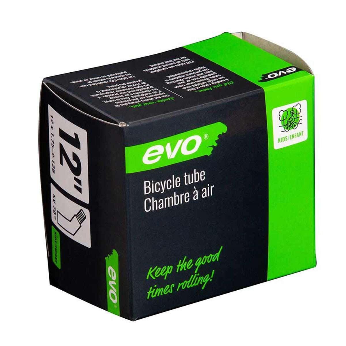 Evo Bicycle Tube - Schrader, 70 , Length: 35mm, 12', 1.75-2.125 - 14EV.020176-02
