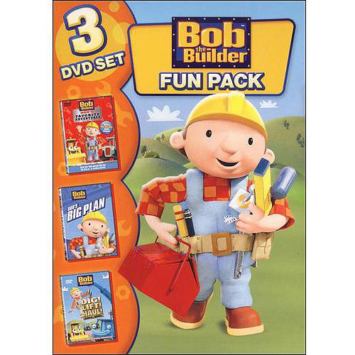Bob The Builder: Fun Pack - 3 DVD Set: Bob's Favorite Adventures / Bob's Big Plan / Dig! Lift! Haul! (Full Frame)