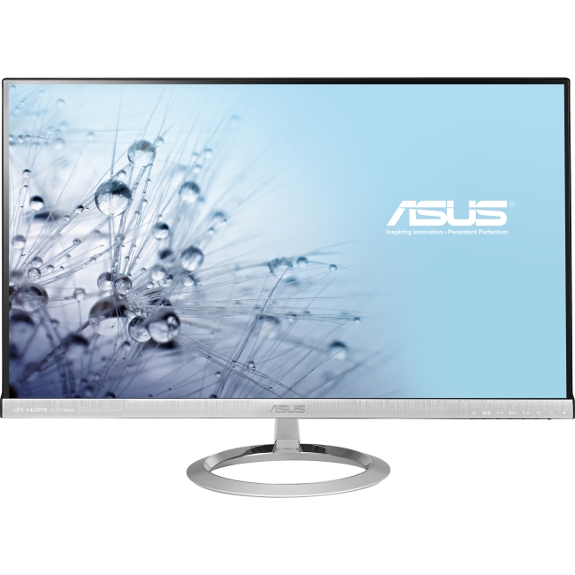 """Asus MX279H 27"""" LED LCD Monitor - 16:9 - 5 ms - Adjustable Display Angle - 1920 x 1080 - 16.7 Million Colors - 250 Nit - 80,000,000:1 - Full HD - Speakers - HDMI - VGA - 37 W - Black, Silver - J-Moss"""