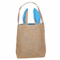 Easter Egg Candy Light Blue Basket Rabbit Ears Tote Bag Children Gift