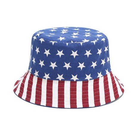 Bucket Hat Reversible American Flag Sun Hat Summer Cap for Outdoors Camping Fishing - image 2 de 9
