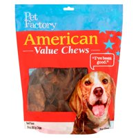 Pet Factory American Value Chews Beef Flavor Chips Dog Chews, 30 Oz.