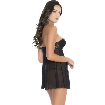 8f7dcbbe94 Strapless Lace Babydoll 42162 - Walmart.com