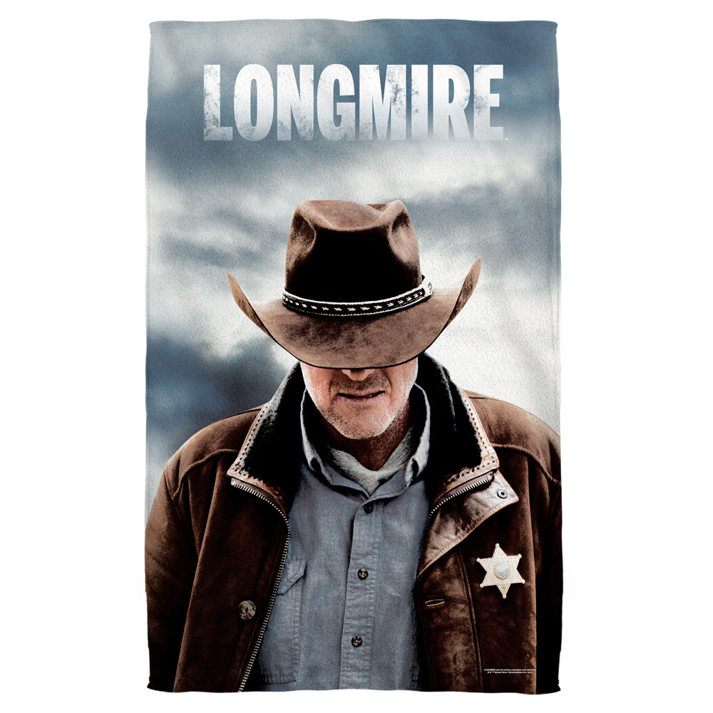Longmire Sheriff Bath Towel White 27X52