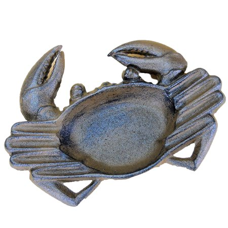 Decor Ashtrays - The Crabby Nook Crab Ashtray Cast Iron for Cigars Cigarettes Outdoor Nautical Decor