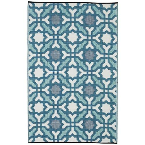 Fab Habitat Handmade Seville Recycled Indo Multicolor Blue Rug (4' x 6')