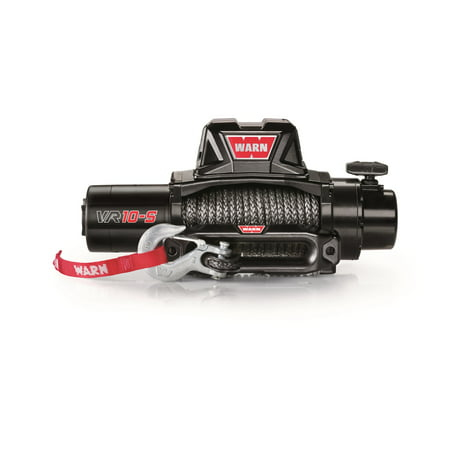 Warn 96815 Standard Duty Winch; VR10 S; 10000 lb. Pulling Capacity; Incl. 90 ft. of 3/8 in. Synthetic Rope;