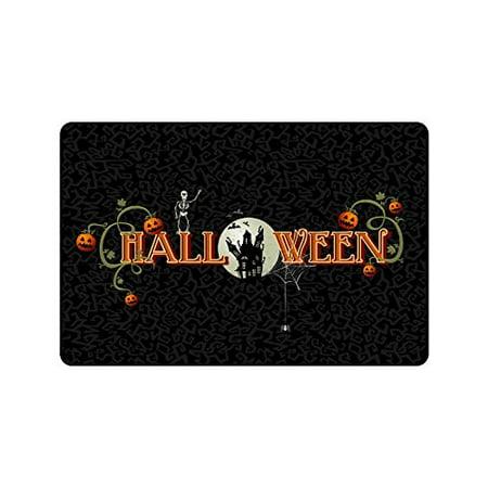 CADecor Happy Halloween With Zombie Non-Slip Indoor/Outdoor Doormat 23.6x15.7 inches
