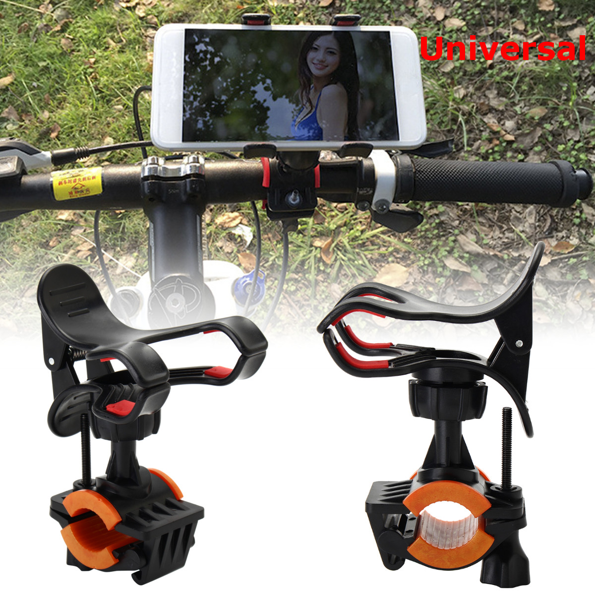 Dual Handheld Gimbal Stabilizer Extended Handle Grip