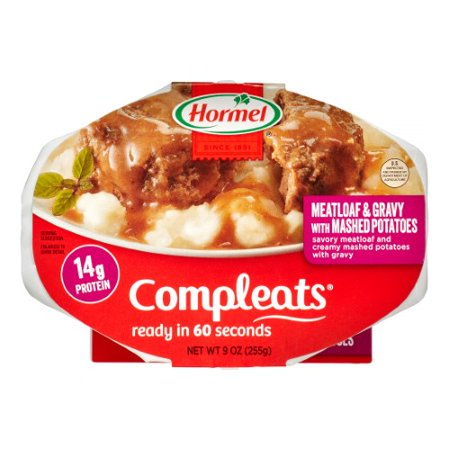 Hormel, Compleats, Meatloaf & Gravy With Mashed