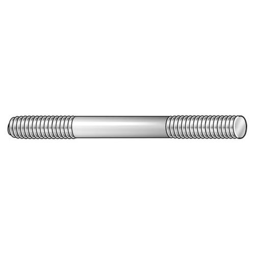 Made in US Pack of 2 35mm Threaded Lengths 200mm Length Black Oxide Finish Ends Threaded Equally Carbon Steel Stud M8-1.25 Threads