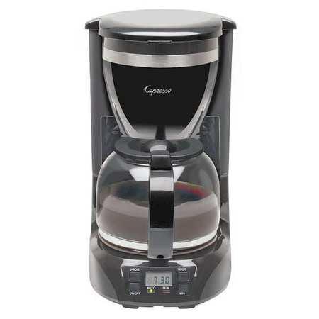 Capresso Single Coffee Maker, 12 Cup, Plastic/Glass, 424.01