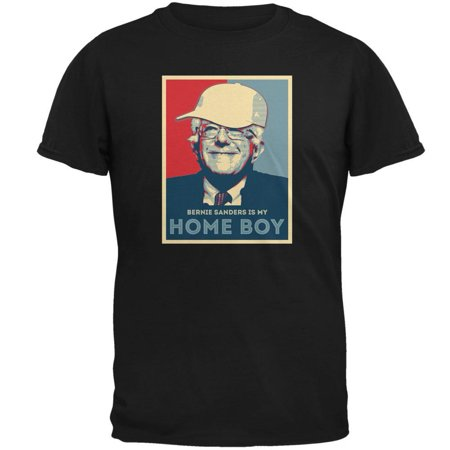 Election 2016 Bernie Sanders Is My Home Boy Black Adult T Shirt
