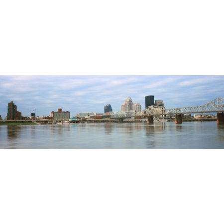 George Rogers Clark Memorial Bridge with city skyline in the background Ohio River Louisville Kentucky USA Poster Print (Party City Louisville Kentucky)