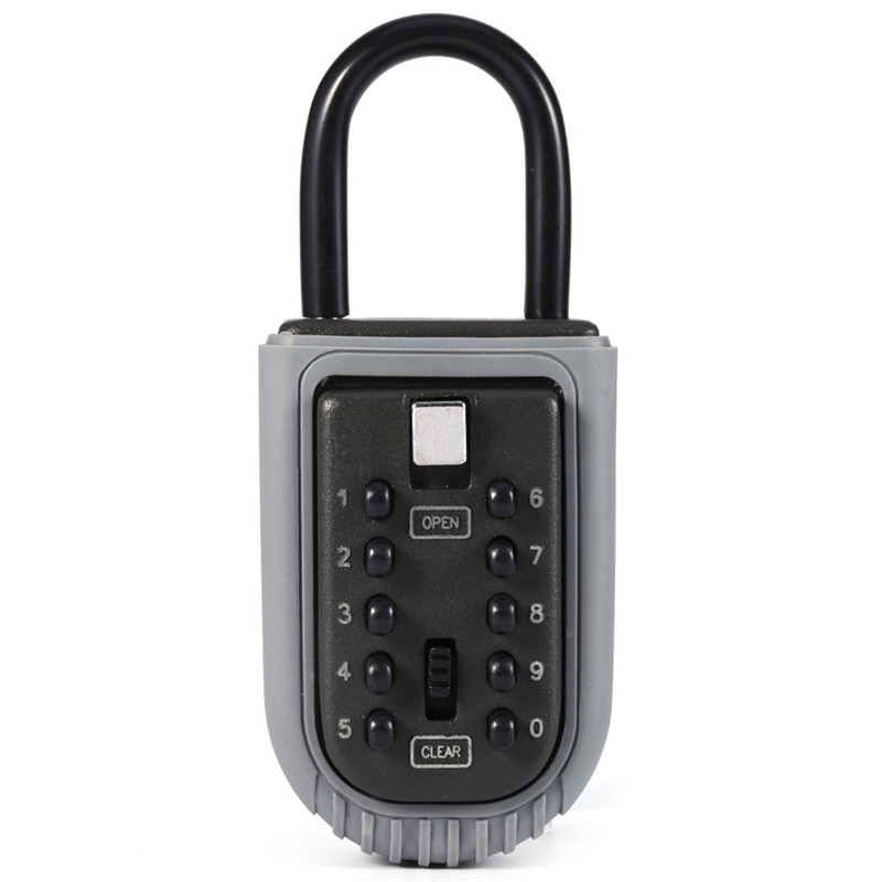 Spare Key Lockbox, Password Lock Key Storage Safe Box, Outdoor Storage Box with 10-Digit Password Combination Lock, For Home/Office Security Lockbox for Guests, Tenants, Realtors, Contractors