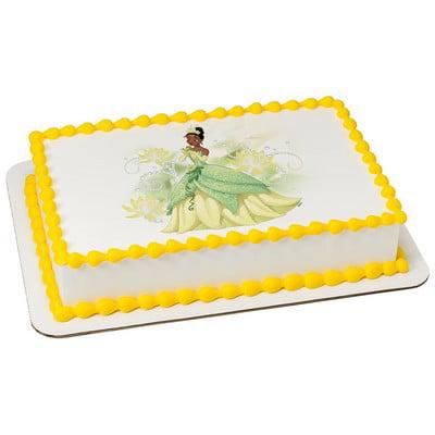 Awe Inspiring Princess The Frog Tiana Cake Decoration Edible Frosting Photo Personalised Birthday Cards Veneteletsinfo