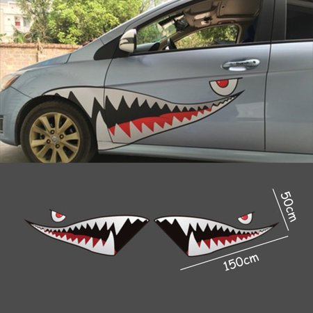 49ft X 16ft Decor Shark Mouth Tooth Vinyl Car Body Sticker Decal Waterproof Self Adhesive Auto Suv Truck Trailer Van Us Walmart Canada