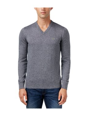 Lacoste V-Neck Jersey Sweater Pullover - Mens
