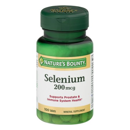 Nature's Bounty Selenium Mineral Supplement Tablets, 200mcg, 100