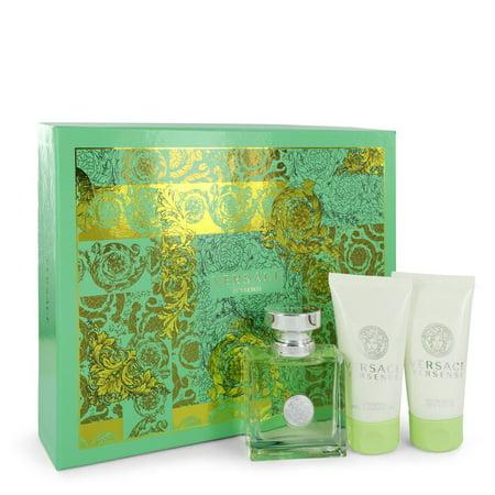 Versace - Gift Set -- 1.7 oz Eau De Toilette Spray + 1.7 oz Body Lotion + 1.7 oz Shower Gel - Women (Versace Sonnenbrille Gelb)
