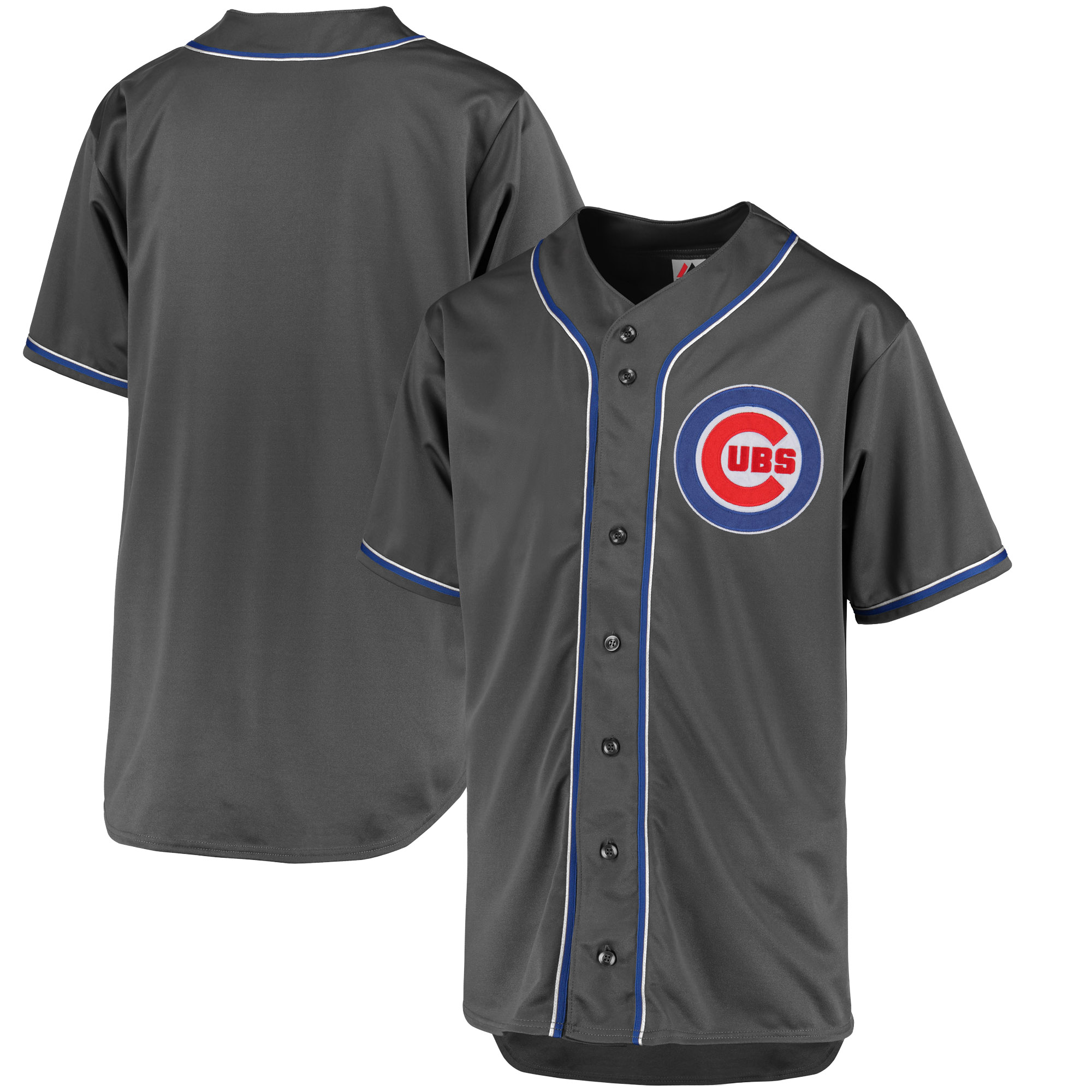 Chicago Cubs Majestic Fashion Big & Tall Team Jersey - Charcoal