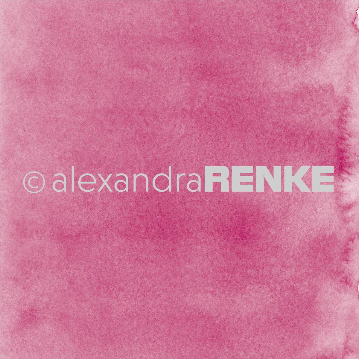 "Alexandra Renke Mimi's Basic Design Paper 12""X12""-Dark Pink Watercolor"