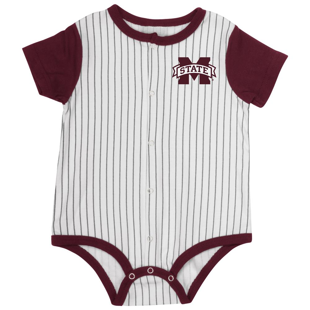 Mississippi State Bulldogs Baby Clothes Infant Baseball Bodysuit
