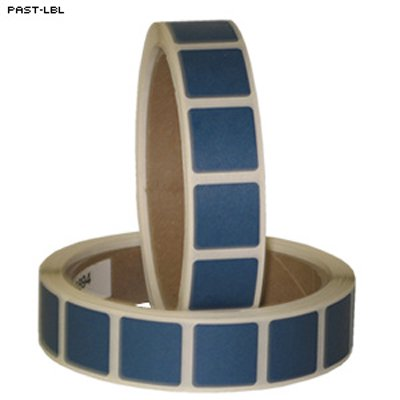 """4 pcs of roll of 1000 7/8"""" square target paster (light blue)"""