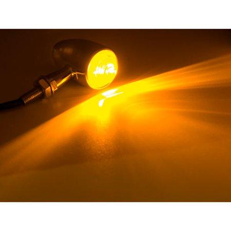 Motorcycle 2 pcs Chrome Amber Turn Signals Lights For Harley Davidson Softail Cross Bones Deuce Rocker - image 1 de 6