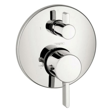 Hansgrohe S Thermostatic Volume Control Faucet Trim with Lever Handle
