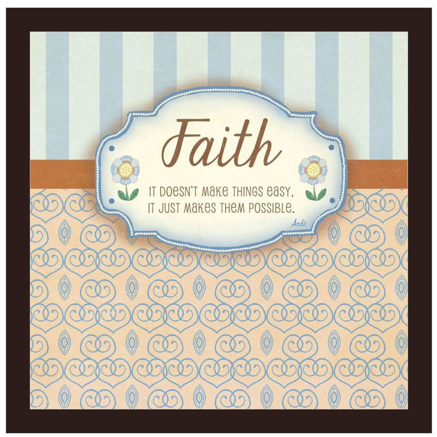 Faith by Eazl Walnut Metallic Image Box