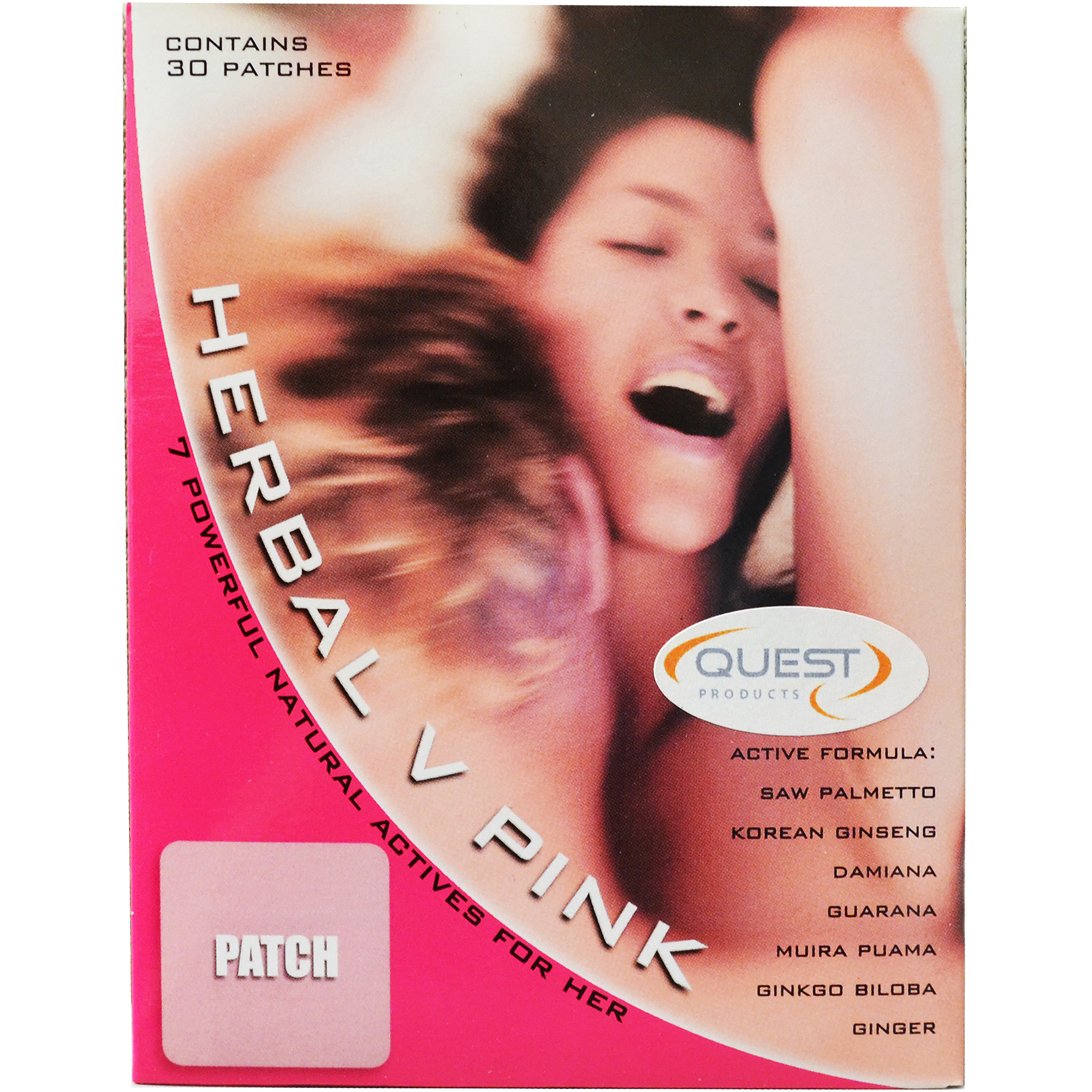 Quest Herbal V Pink Female Libido Patch, 30 count