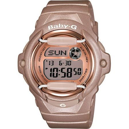 Baby-G Rose Gold-Tone Ladies Watch BG169G-4 (Baby G Shock Watches Women Red)