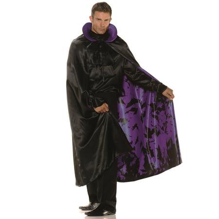 Satin Purple Bat Cape Adult Male Halloween Costume Accessories - One Size (Bat Country Live Halloween)