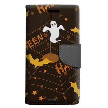 LG Escape 3 Wallet Case - Halloween Ghost Pattern Case